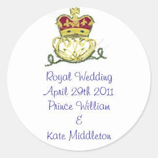 Royal Wedding Commemorative Classic Round Sticker