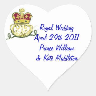 Royal Wedding Commemorative Heart Sticker