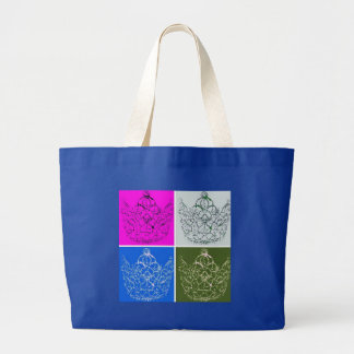 Royal Wedding Crown Canvas Bags