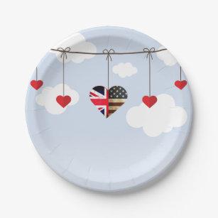 Royal Wedding Disposable Tableware Paper Plate