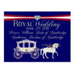 Royal Wedding Duke and Duchess of Cambridge Postca Postcard
