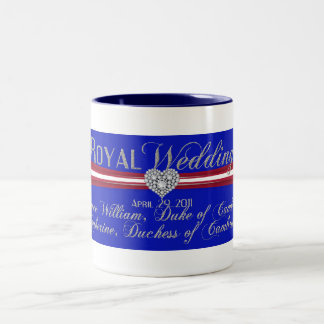 Royal Wedding Duke and Duchess of Cambridge Two-Tone Coffee Mug