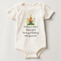 Royal Wedding Flower girl kids outfit Baby Bodysuit