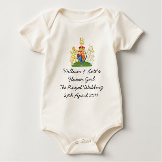 Royal Wedding Flower girl kids outfit Baby Bodysuit