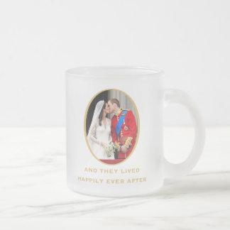 Royal Wedding Frosted Glass Coffee Mug