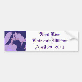Royal Wedding Gifts/Kate & William Bumper Sticker