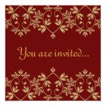 "Royal Wedding Invitations 5.25"" Square Invitation Card"