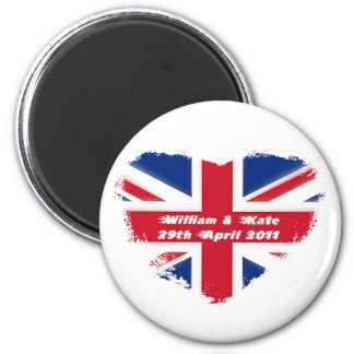 Royal Wedding - Kate & William 2 Inch Round Magnet