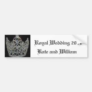 Royal Wedding/Kate & William Bumper Sticker