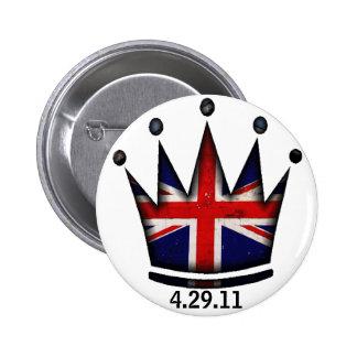 Royal Wedding Kate & William Button