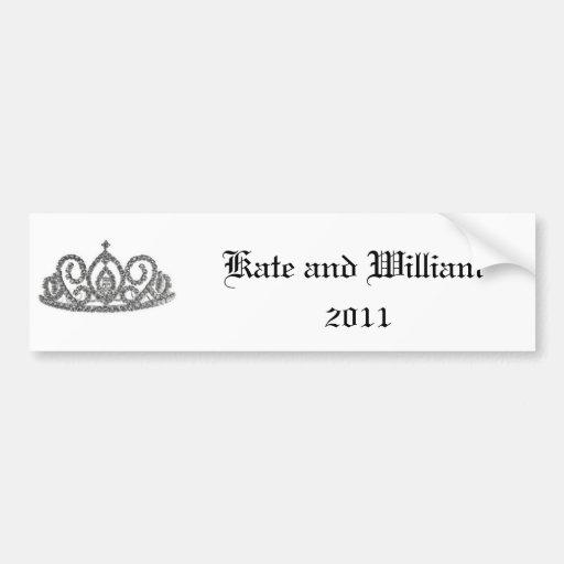 Royal Wedding/Kate & William Car Bumper Sticker