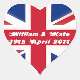 Royal Wedding - Kate & William Heart Sticker