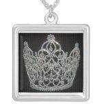 Royal Wedding/Kate & William Square Pendant Necklace