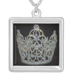 Royal Wedding/Kate & William Square Pendant Necklace