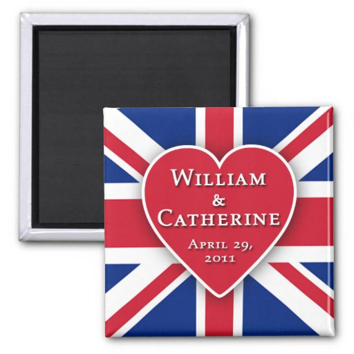 Royal Wedding Magnets for Party Favors