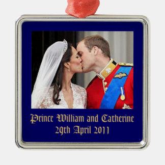 Royal Wedding Metal Ornament