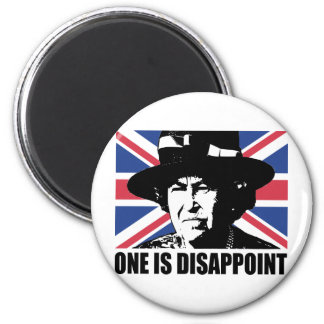 Royal Wedding: One is Disappoint (The Queen) 2 Inch Round Magnet