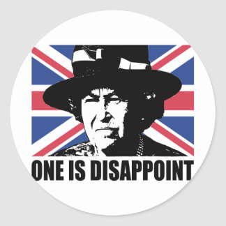 Royal Wedding: One is Disappoint (The Queen) Classic Round Sticker