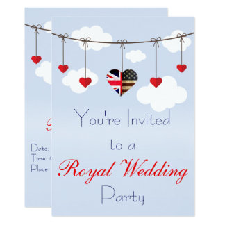 Royal Wedding Party Card