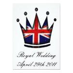Royal Wedding Party Invitation 13 Cm X 18 Cm Invitation Card