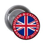 Royal Wedding Pinback Buttons