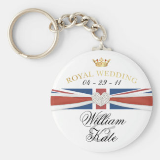 Royal Wedding - Prince William & Kate Collectibles Basic Round Button Keychain