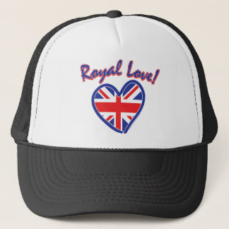 Royal Wedding, Royal Love, Union Jack Heart Trucker Hat