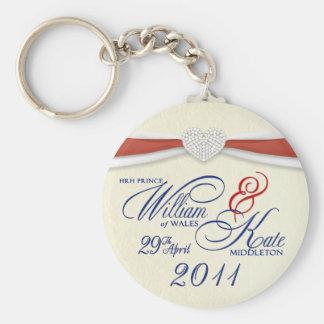 Royal Wedding Souvenir - William & Kate Key Rings