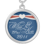 Royal Wedding Souvenir - William & Kate Pendant