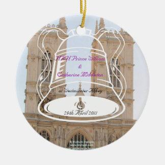 Royal Wedding Souvenirs Ceramic Ornament