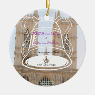 Royal Wedding Souvenirs Double-Sided Ceramic Round Christmas Ornament