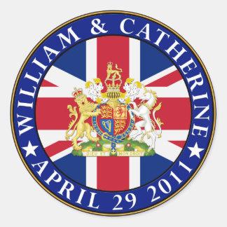 Royal Wedding Classic Round Sticker