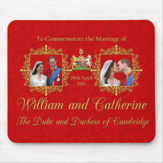 Royal Wedding The Duke and Duchess of Cambridge Mouse Pad