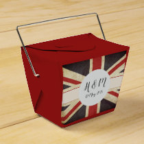 Royal Wedding Union Jack Monogram Favor Box