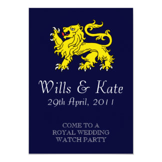 Royal Wedding Watch Party Invitation (Navy Blue)