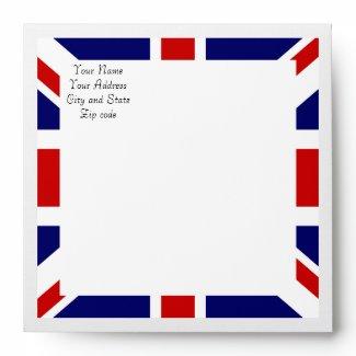 Royal Wedding Watch Party Matching Envelope envelope