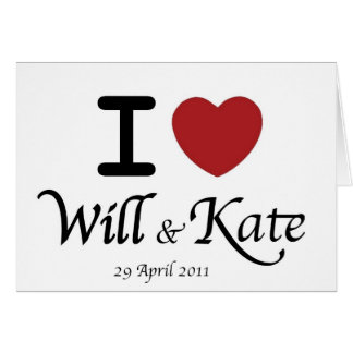 Royal Wedding William and Kate Card