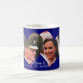 Royal Wedding William and Kate hearts mug