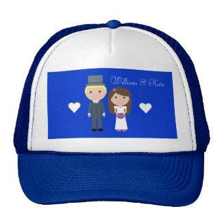 Royal Wedding William & Kate Cute Cartoon Mesh Hats
