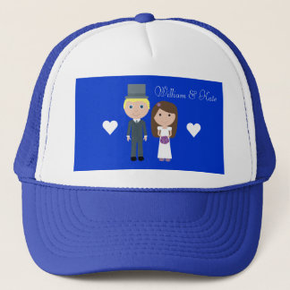 Royal Wedding William & Kate Cute Cartoon Trucker Hat