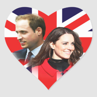 Royal Wedding - William Kate Heart Stickers