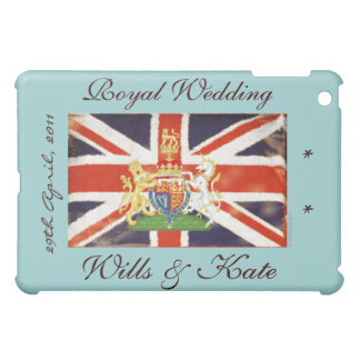 Royal Wedding Wills and Kate (Blue) iPad Mini Cases