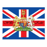 Royal Wedding Wills and Kate Postcard