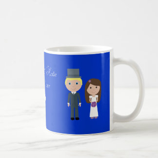 Royal Wedding Wills & Kate Cute Cartoon Classic White Coffee Mug