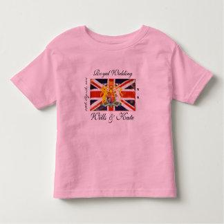 Royal Wedding Wills & Kate Kids Ringer T-Shirt