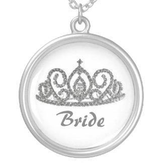 Royal WeddingBride's Tiara Silver Plated Necklace