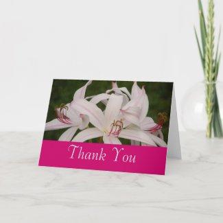 Royal White Thank You card