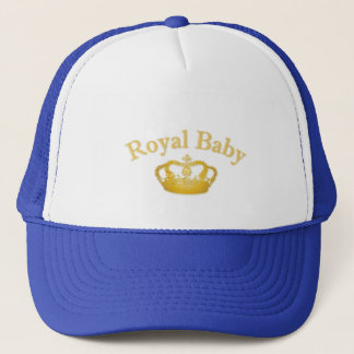 Royal with Golden Crown Trucker Hat