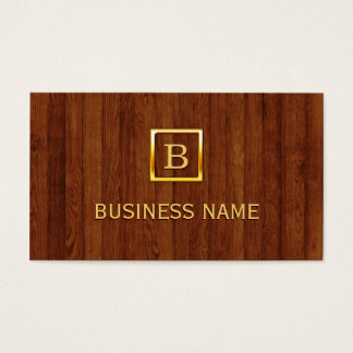 Royal Wood Stripes Plastic Surgeon Business Card