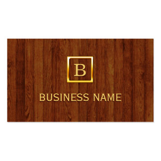 Royal Wood Stripes Plastic Surgeon Business Card
